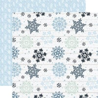 Echo Park - Winter Collection - 12 x 12 Double Sided Paper - Sparkling Snow