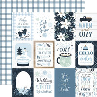 Echo Park - Winter Collection - 12 x 12 Double Sided Paper - 3 x 4 Journaling Cards