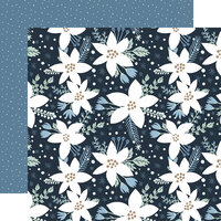 Echo Park - Winter Collection - 12 x 12 Double Sided Paper - Frosted Floral