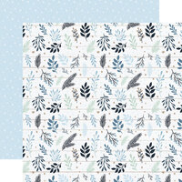 Echo Park - Winter Collection - 12 x 12 Double Sided Paper - Snowy Sprigs