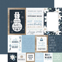 Echo Park - Winter Collection - 12 x 12 Double Sided Paper - Multi Journaling Cards