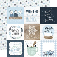 Echo Park - Winter Collection - 12 x 12 Double Sided Paper - 4 x 4 Journaling Cards