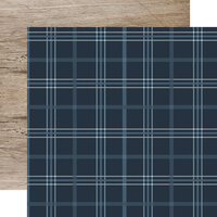Echo Park - Winter Collection - 12 x 12 Double Sided Paper - Snow Place Plaid
