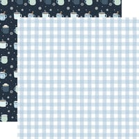 Echo Park - Winter Collection - 12 x 12 Double Sided Paper - Winter Gingham