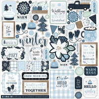 Echo Park - Winter Collection - 12 x 12 Cardstock Stickers - Elements