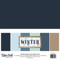 Echo Park - Winter Collection - 12 x 12 Paper Pack - Solids