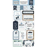 Echo Park - Winter Collection - Chipboard Phrases
