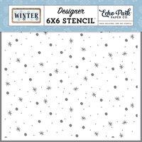Echo Park - Winter Collection - 6 x 6 Stencils - Sparkling Snow