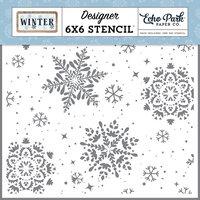 Echo Park - Winter Collection - 6 x 6 Stencils - Snowy