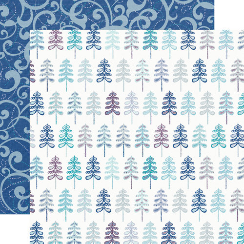 Echo Park - Winter Wishes Collection - 12 x 12 Double Sided Paper - Snowy Trees