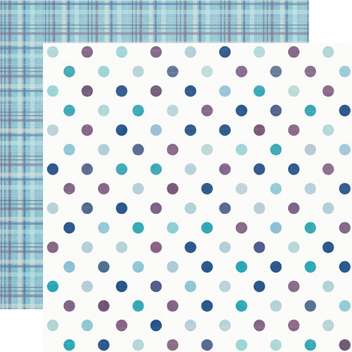 Echo Park - Winter Wishes Collection - 12 x 12 Double Sided Paper - Dazzling Dots