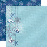 Echo Park - Winter Wishes Collection - 12 x 12 Double Sided Paper - Shiny Skates