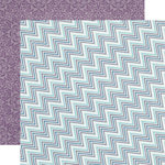 Echo Park - Winter Wishes Collection - 12 x 12 Double Sided Paper - Icy Chevron