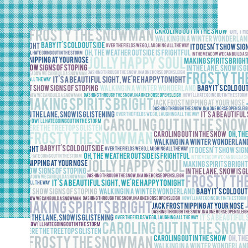 Echo Park - Winter Wishes Collection - 12 x 12 Double Sided Paper - Wintery Words