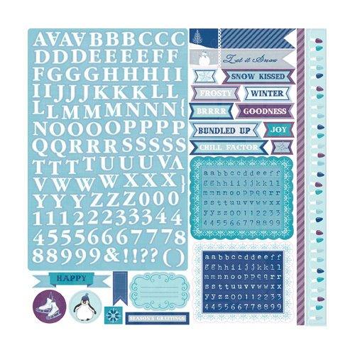 Echo Park - Winter Wishes Collection - 12 x 12 Cardstock Stickers - Alphabet