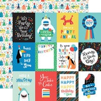 Echo Park - It's Your Birthday Boy Collection - 12 x 12 Double Sided Paper - 3 x 4 Journaling Cards