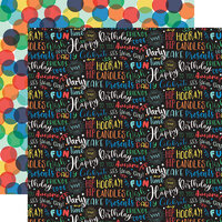 Echo Park - It's Your Birthday Boy Collection - 12 x 12 Double Sided Paper - Birthday Boy Words