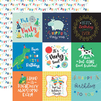 Echo Park - It's Your Birthday Boy Collection - 12 x 12 Double Sided Paper - 4 x 4 Journaling Cards