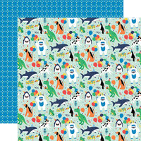 Echo Park - It's Your Birthday Boy Collection - 12 x 12 Double Sided Paper - Boy Party Animals