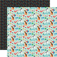 Echo Park - It's Your Birthday Boy Collection - 12 x 12 Double Sided Paper - Dog Party