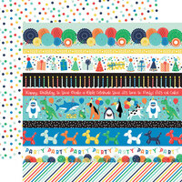 Echo Park - It's Your Birthday Boy Collection - 12 x 12 Double Sided Paper - Border Strips