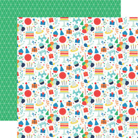 Echo Park - It's Your Birthday Boy Collection - 12 x 12 Double Sided Paper - Birthday Boy Fun