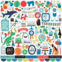 Echo Park - It's Your Birthday Boy Collection - 12 x 12 Cardstock Stickers - Elements
