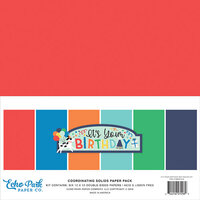 Echo Park - It's Your Birthday Boy Collection - 12 x 12 Paper Pack - Solids
