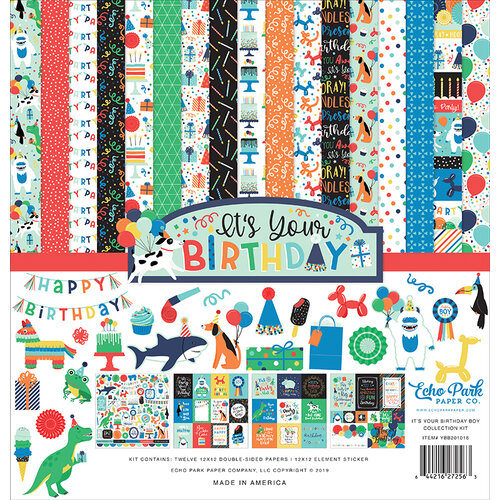 Echo Park - It's Your Birthday Boy Collection - 12 x 12 Collection Kit
