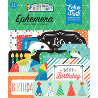 Echo Park - It's Your Birthday Boy Collection - Ephemera