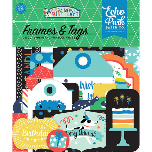 Echo Park It S Your Birthday Boy Collection Ephemera Frames And Tags