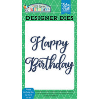 Echo Park - It's Your Birthday Boy Collection - Designer Dies - Happy Birthday Boy - Word Set 2