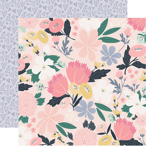 Echo Park - You and Me Collection - 12 x 12 Double Sided Paper - I Love Us Floral