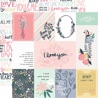 Echo Park - You and Me Collection - 12 x 12 Double Sided Paper - 3 x 4 Journaling Cards