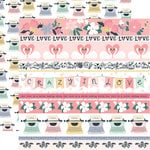 Echo Park - You and Me Collection - 12 x 12 Double Sided Paper - Border Strips