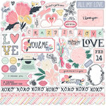 Echo Park - You and Me Collection - 12 x 12 Cardstock Stickers - Elements