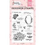 Echo Park - You and Me Collection - Clear Acrylic Stamps - I Choose You