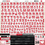 Echo Park - Yours Truly Collection - 12 x 12 Cardstock Stickers - Alphabet