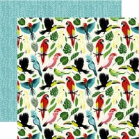 Echo Park - Animal Safari Collection - 12 x 12 Double Sided Paper - Birds Of Paradise