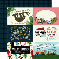 Echo Park - Animal Safari Collection - 12 x 12 Double Sided Paper - 4 x 6 Journaling Cards