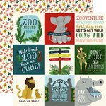 Echo Park - Animal Safari Collection - 12 x 12 Double Sided Paper - 4 x 4 Journaling Cards