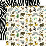 Echo Park - Animal Safari Collection - 12 x 12 Double Sided Paper - Zoo Letters