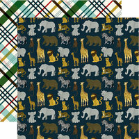Echo Park - Animal Safari Collection - 12 x 12 Double Sided Paper - Safari