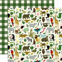 Echo Park - Animal Safari Collection - 12 x 12 Double Sided Paper - Its A Zoo