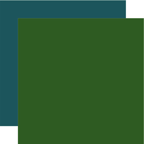 Echo Park - Animal Safari Collection - 12 x 12 Double Sided Paper - Green