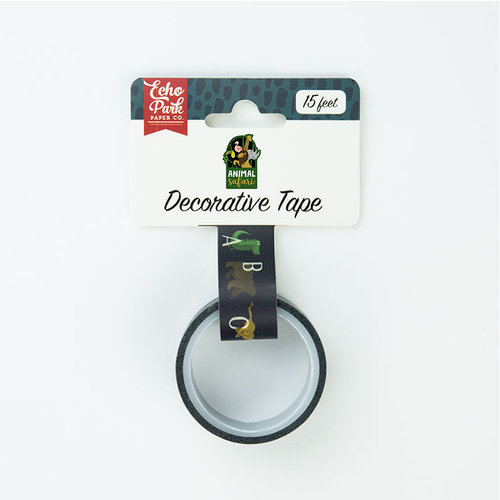 Echo Park - Animal Safari Collection - Decorative Tape - Animal Alphabet