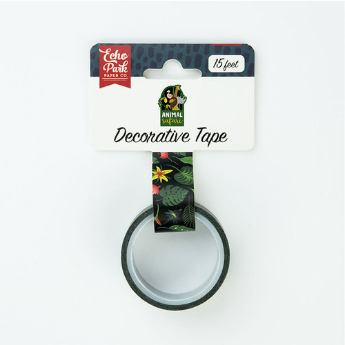 Echo Park - Animal Safari Collection - Decorative Tape - Jungle Palms