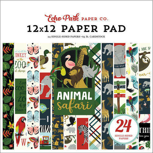 Echo Park - Animal Safari Collection - 12 x 12 Paper Pad