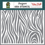 Echo Park - Animal Safari Collection - 6 x 6 Stencil - Zebra Stripe