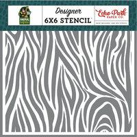 Echo Park - Animal Safari Collection - 6 x 6 Stencil - Zebra Stripe